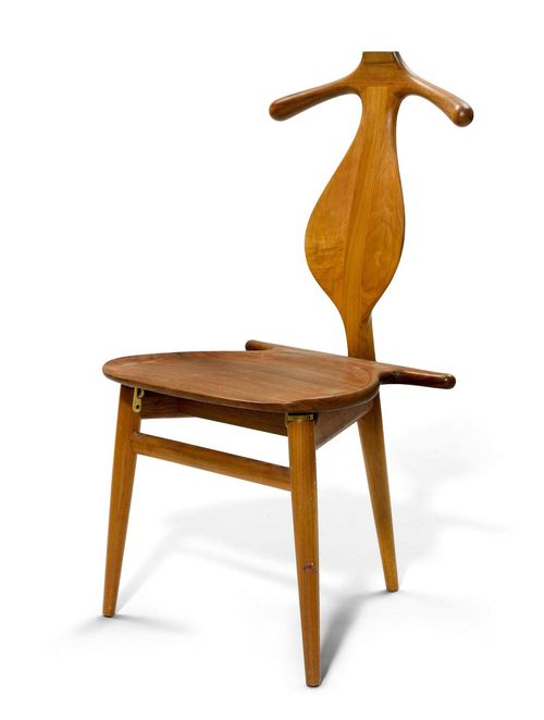 "HANS J. WEGNER (1914 - 2007) CLOAKROOM CHAIR, Model ""Valet/Bachelor chair No 250"", Designed in 1953 for Johanes Hansen Møbelsnedkeri Teak."