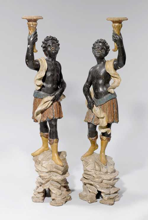 PAIR OF MOOR TORCHÈRES,