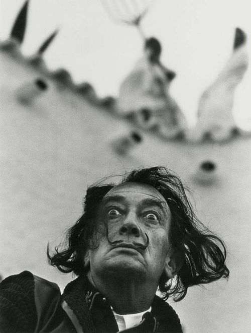 HALSMAN, PHILIPPE (Riga 1906 - 1979 New York) Dali in Port Ligat. 1964/ 1981. Silver gelatin print. Verso stamp: HALSMAN/DALI copyright Philippe Halsman 81 also numbered 137/ 250. 33 x 25 cm on 35.5 x 27.5 (sheet size ).
