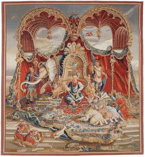 "TAPESTRY DEPICTING THE ""ALLEGORY OF ASIA"","