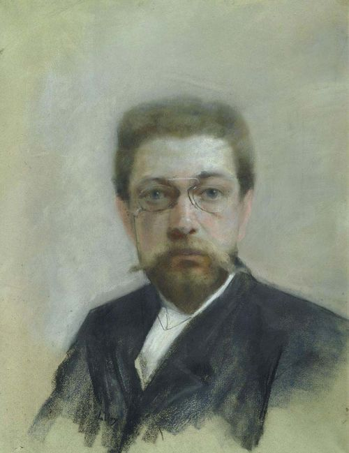 URY, LESSER (Birnbaum 1861 - 1931 Berlin) Portrait of a man. Pastel on paper. Signed lower left: L. Ury. 56 x 42.5 cm.