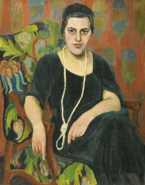 PURRMANN, HANS (Speyer 1880 - 1966 Basel) Portrait of Annelore Betyna. Circa 1914 or circa 1920. Oil on canvas. Signed lower left: H. Purrmann. 94 x 73 cm. Provenance: - Lempertz Cologne. 1967. Auction 497. No. 624. - Galerie Fischer Lucerne. 1968. No. 469. - Private collection purchased at the above auction. Literature: - Lenz. Christian / Billeter. Felix: Hans Purrmann. Die Gemälde I 1895 - 1934. catalogue raisonné, Munich 2004. No. 1922/36. - Weltkunst. 1. 1. 1967