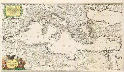 Mittelmeer Karte.Mittelmeer Karte Gerard Valck Um 1700 La Mer Mediterra
