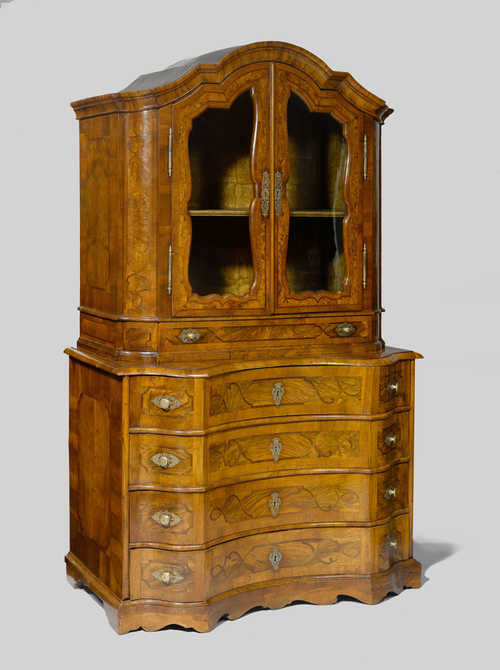 COMMODE WITH VITRINE CABINET,