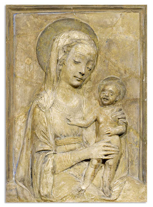 RELIEF WITH MADONNA AND CHILD,