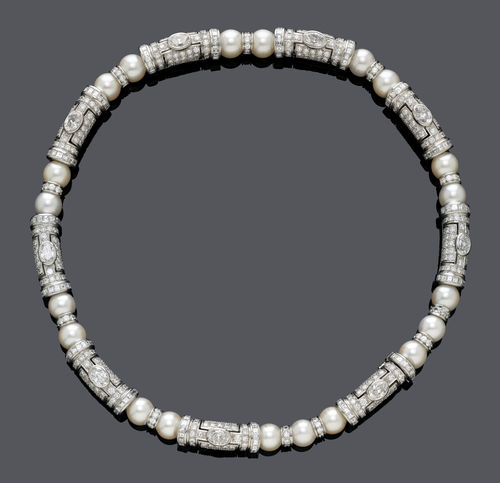 DIAMOND AND PEARL NECKLACE, BY BULGARI.