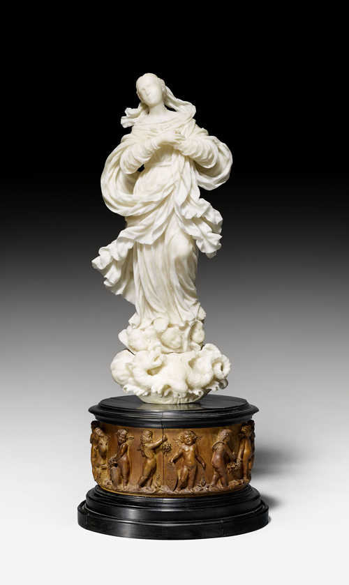 "ALABASTER FIGURE OF THE ""IMMACULATE VIRGIN"" (""VERGINE IMMACOLATA""),"