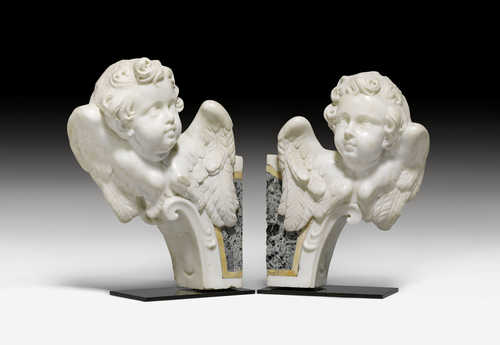 PAIR OF ANGEL BUSTS,