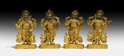 FINE FIGURES OF THE FOUR HEAVENLY KINGS.