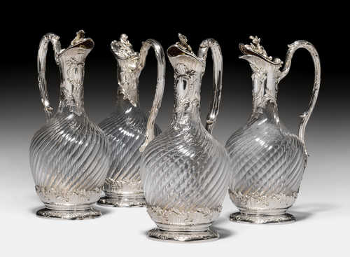 SERIES OF FOUR CARAFES,