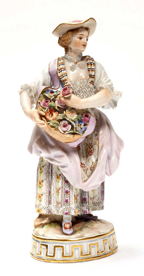 SHEPHERDESS WITH FLOWER BASKET,