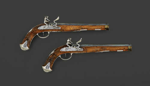 PAIR OF FLINTLOCK PISTOLS,