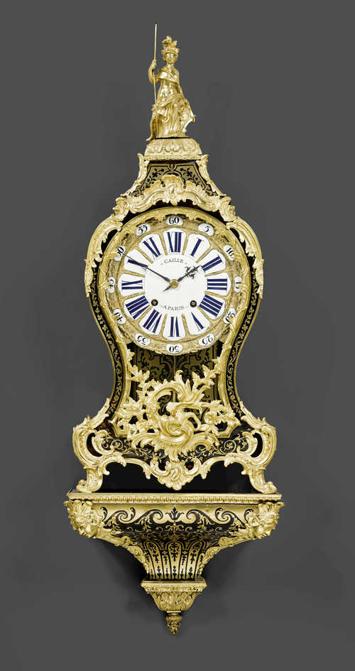 BOULLE CLOCK WITH PLINTH,