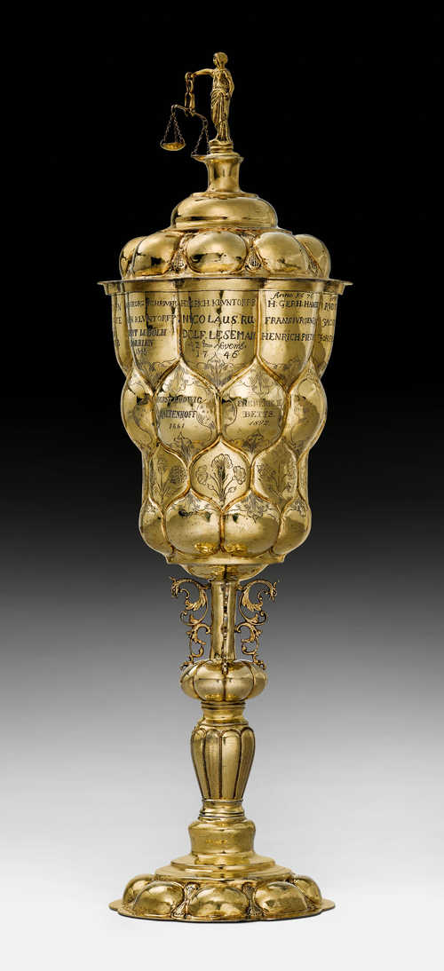 "SILVER-GILT ""RATHSPOKAL"" STANDING CUP"