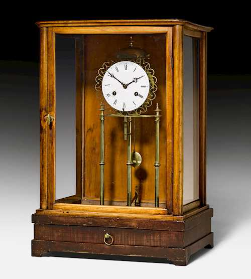 APOTHECARY SCALES WITH CLOCK,