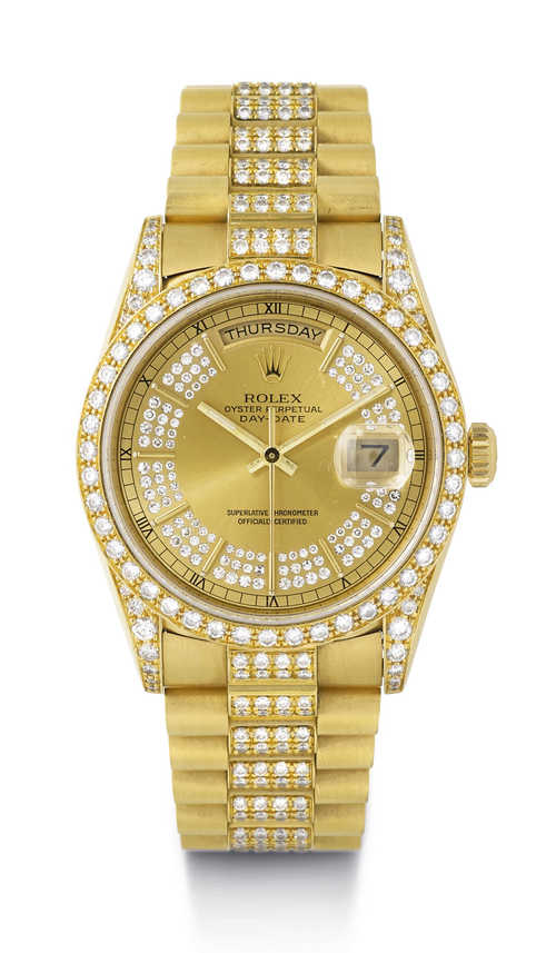 Rolex Day-Date Diamond Wristwatch, ca. 1989.