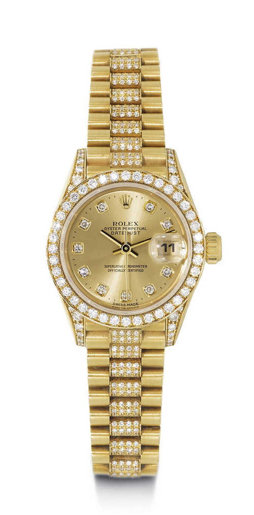 Rolex Datejust Diamond Lady's Wristwatch, ca. 1995.