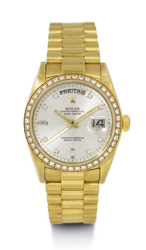 Rolex Day-Date Diamond Wristwatch, ca. 1979.