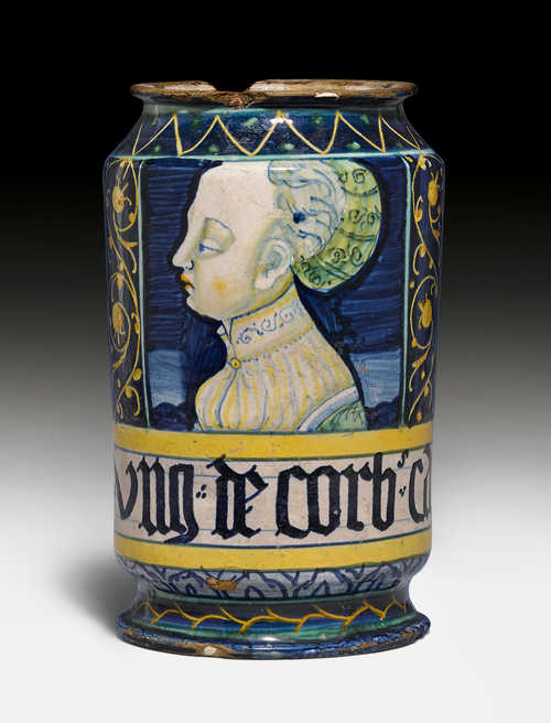 "A MAIOLICA ALBARELLO OF THE ""ORSINI-COLONNA"" TYPE,"