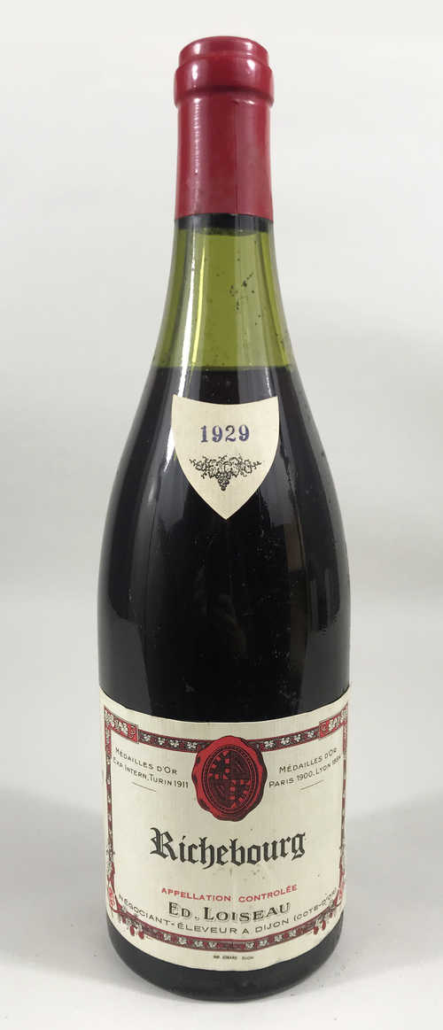 1 bt Richebourg Edouard Loiseau Grand Cru 0.75 L 1929