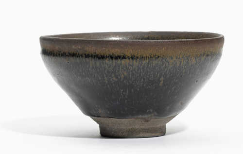 "A BOWL WITH ""HARE'S FUR"" GLAZE."