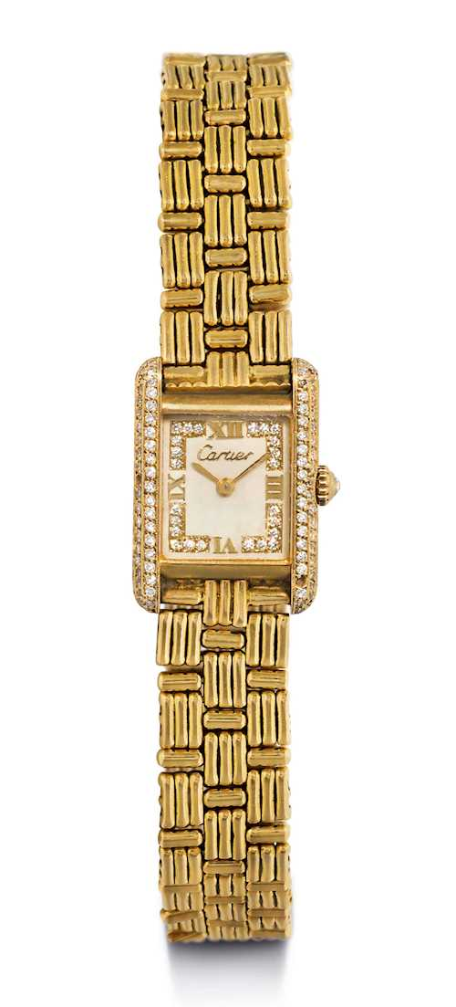 Cartier Tank, diamond Lady's Wristwatch.