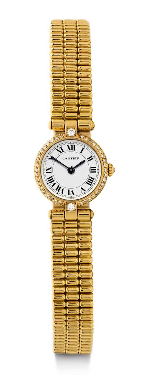 Cartier, diamond Lady's Wristwatch.