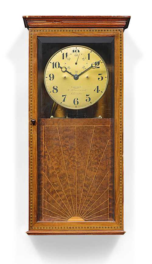 WALL-MOUNTED ELECTRIC PRECISION REGULATOR CLOCK,