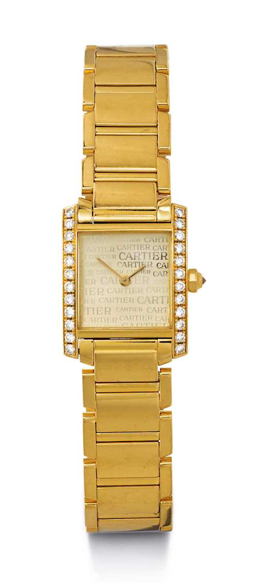 Cartier Tank Française, diamond Lady's Wristwatch.