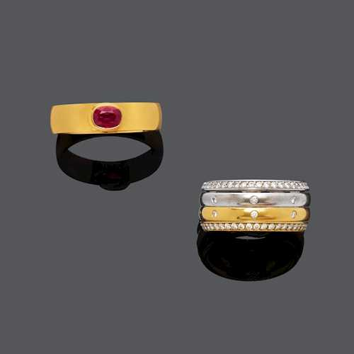 DIAMOND AND RUBY RING.