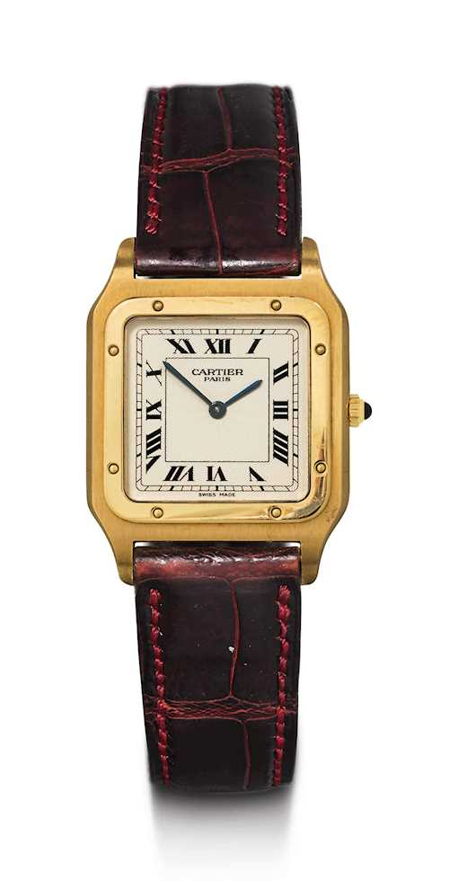 Cartier Santos Mecanique, 1990s.