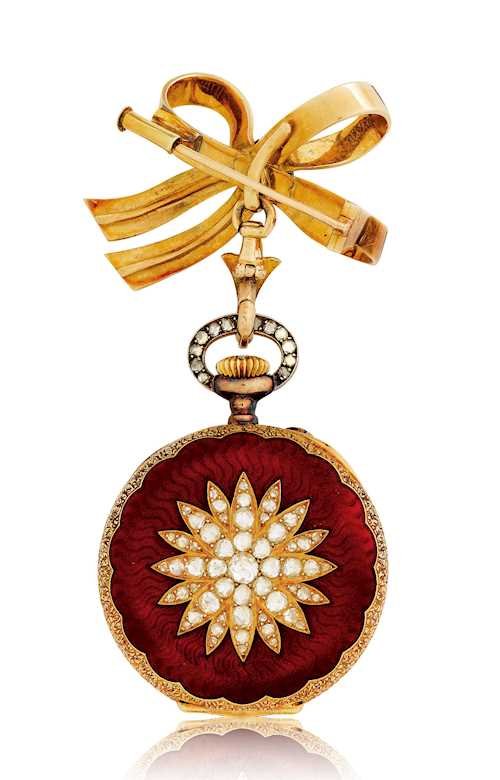 Patek Philippe, very rare Brooch- or Pendant Watch, 1897.