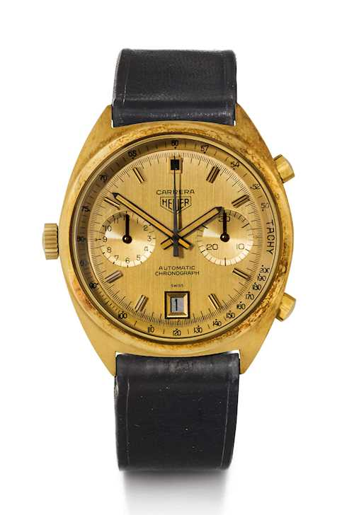 Very rare Heuer Carrera Chronograph, ca. 1970.