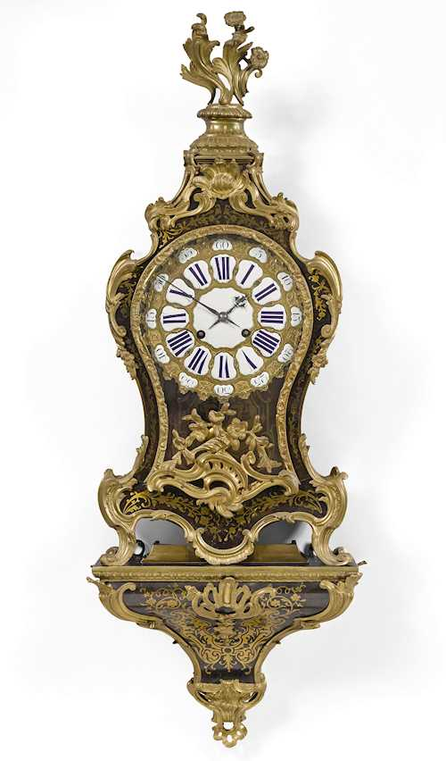 BOULLE CLOCK ON BASE,