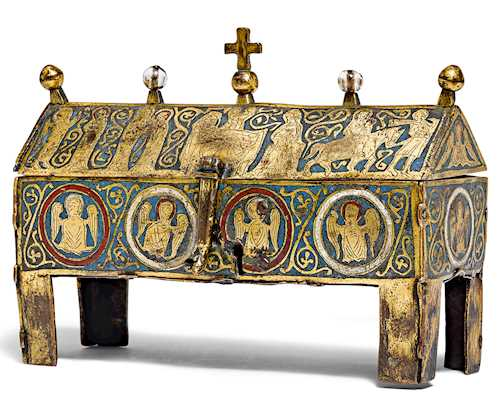 ENAMEL RELIQUARY CABINET, so-called châsse,
