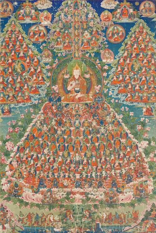 A FINE THANGKA OF THE TSONGKHAPA TSOGSHING.