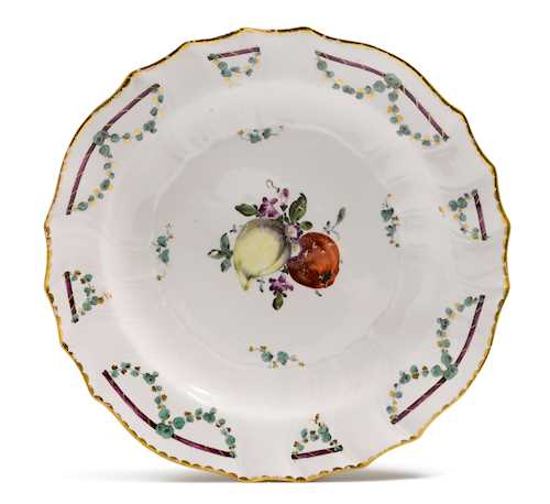 A PLATE WITH GARLANDS