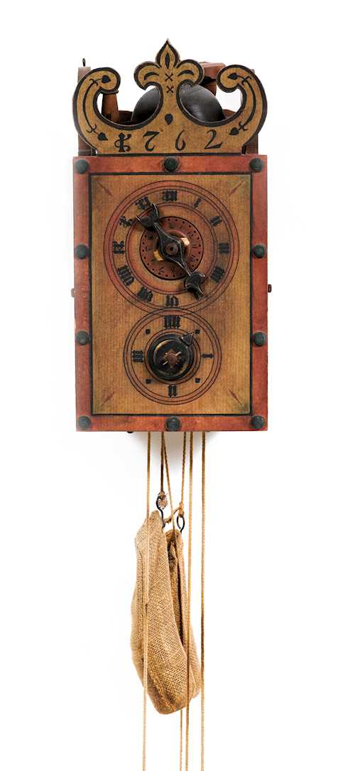 DAVOS ALARM CLOCK WITH WOODEN GEARS