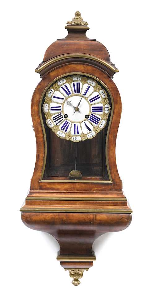 CLOCK ON PLINTH