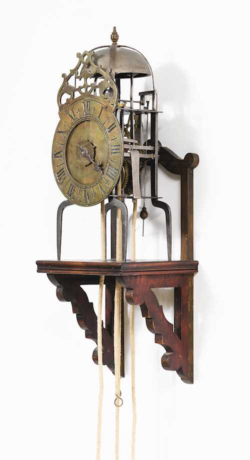 """ONE-HANDED"" LANTERN CLOCK WITH ALARM"