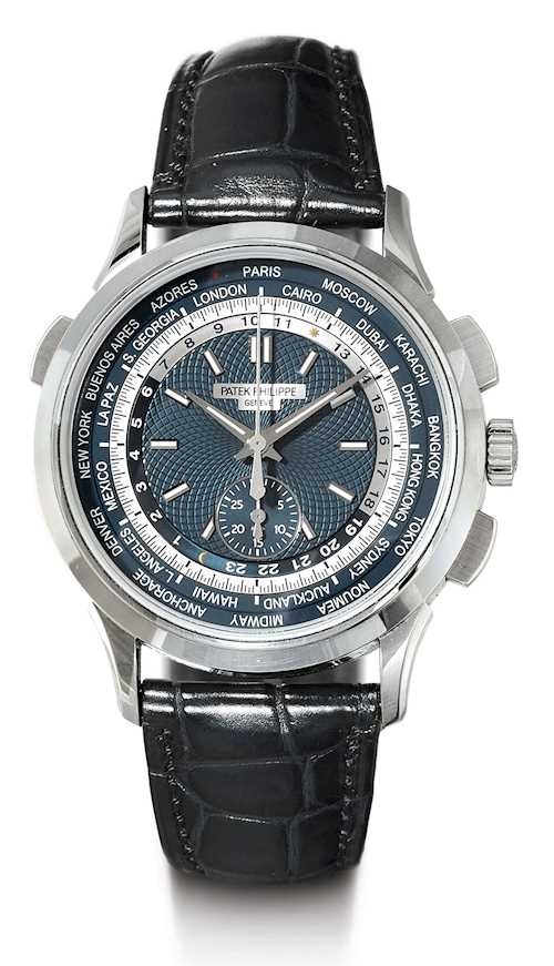 Patek Philippe, very attractive World Time Chronograph, 2017.