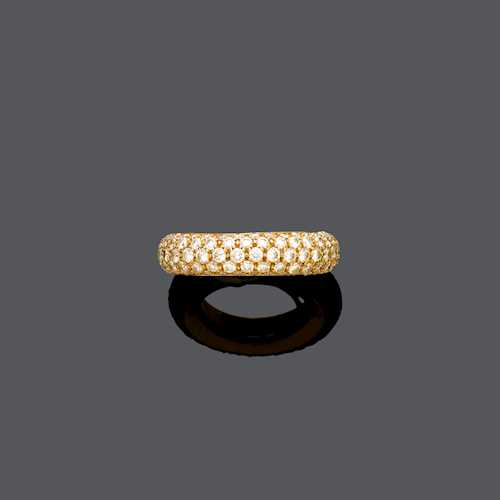 DIAMOND AND GOLD RING, BY J. FRECH.