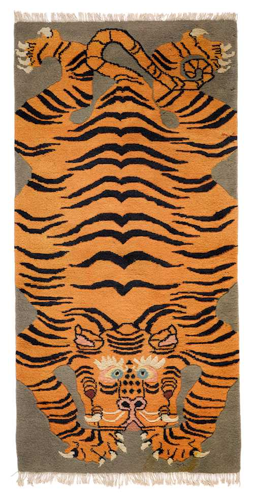A TIGER CARPET.