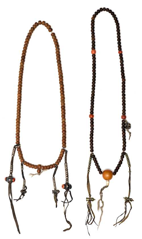 TWO MALA PRAYER BEAD STRINGS.
