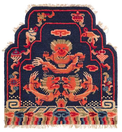 A WOOL CARPET FOR A PRIEST'S THRONE.