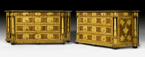 "PAIR OF LARGE COMMODES ""A COLONNES"","