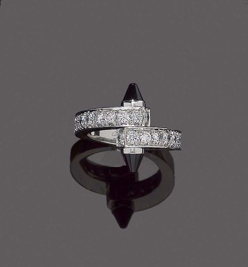 ONYX-BRILLANT-RING, CARTIER.