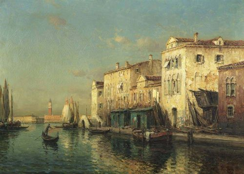 BOUVARD, NOEL GEORGES (France 1912 - 1975) Venice. Oil on canvas. Signed lower right: Bouvard. 65 x 91 cm.