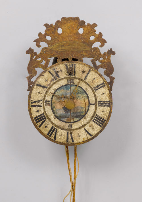 "IRON CLOCK WITH FRONT ""ZAPPLER"","