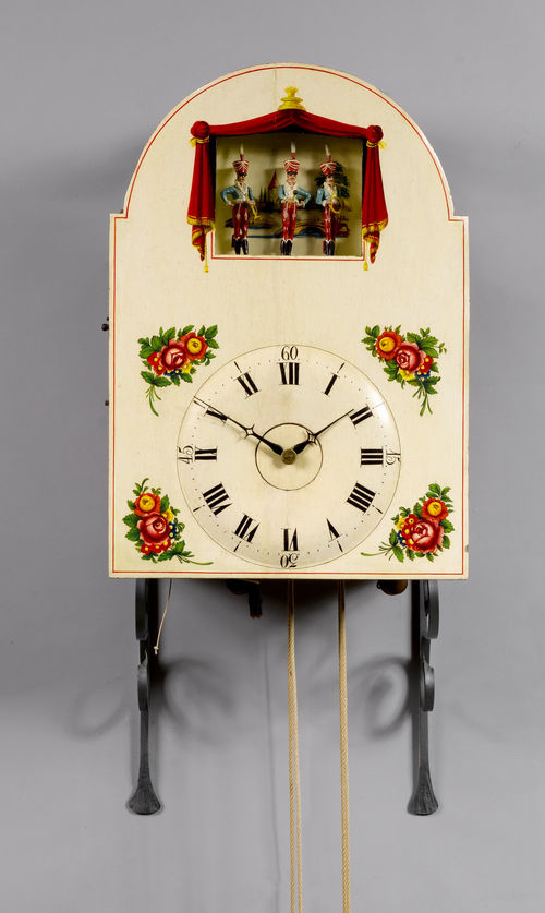 CLOCK WITH AUTOMATION AND 23 FLUTES,